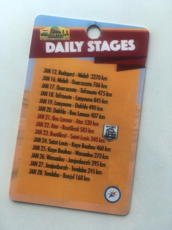 overland rally stages