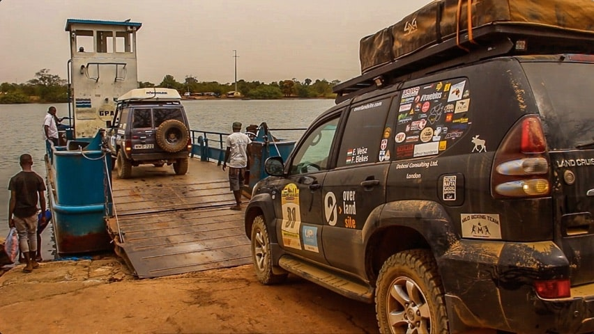 Overlanding in The Gambia - Ferry crossing