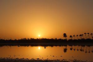 Overlanding in Senegal - sunset at Zebrabar