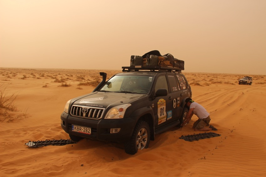 traction mats are useful in sandy deserts