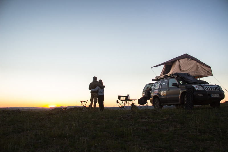 rooftop tent in mongolia