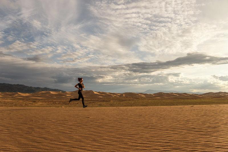 running while overlanding