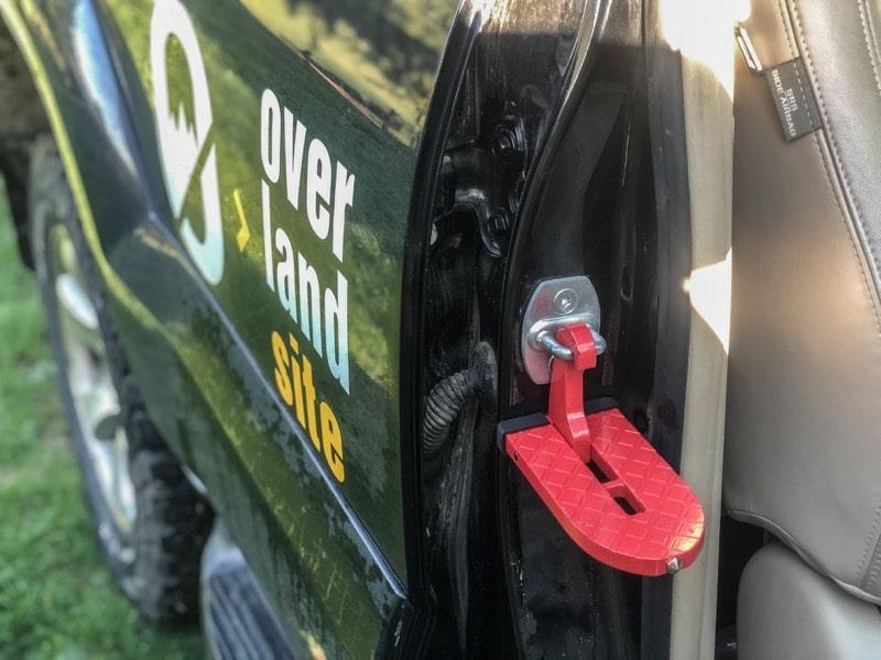 car door latch step