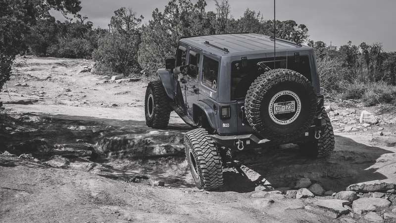 off-roading Jeep