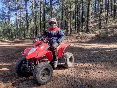 testing all terrain vehicle in Spain