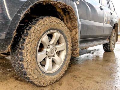 all terrain tires in mud