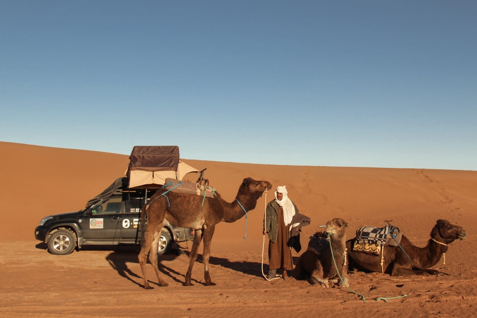 morocco camping rooftop tent