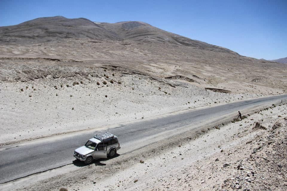 stop on Pamir Highway trip