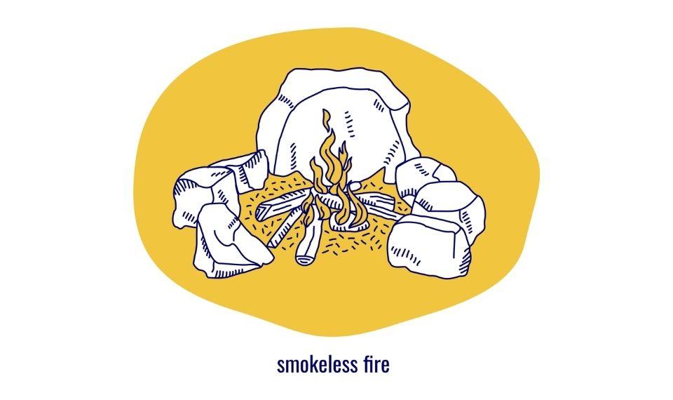 how to build a smokeless fire