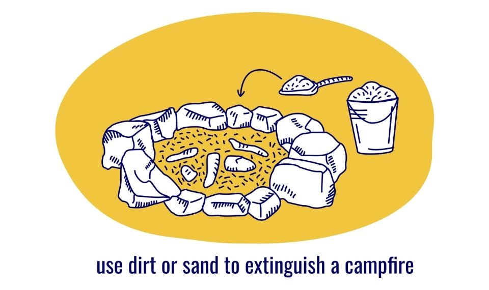 how to put out a campfire